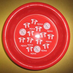 Ajax plastic bordje rood shirts