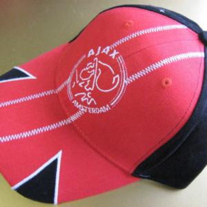 Ajax cap zwart rood stiksels – senior