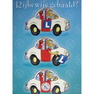 Ajax wenskaart rijbewijs
