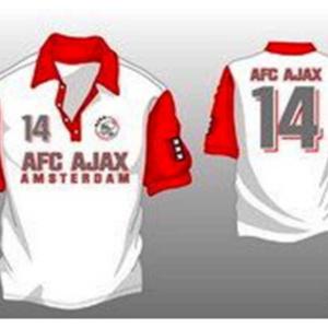 Ajax polo rood wit nummer 14 – MAAT S