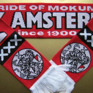 Ajax sjaal pride of mokum oud logo rood
