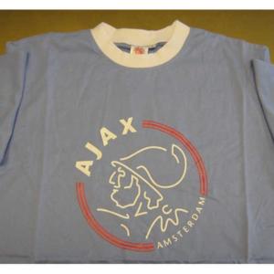 Ajax t-shirt clublogo lichtblauw – MAAT S