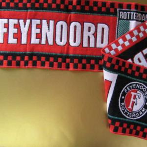 Feyenoord wandsjaal enkel gebreid