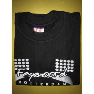 Feyenoord t-shirt zwart stadionlampen – MAAT XL
