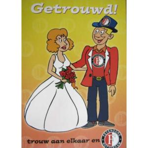 Feyenoord wenskaart getrouwd